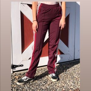 Adidas track pants - button up side